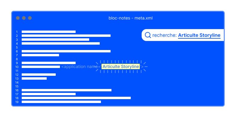 Identifier si votre module a été exporté avec Storyline d'Articulate