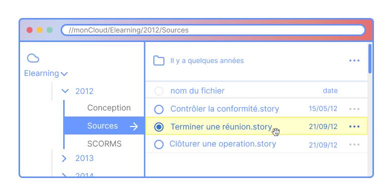 Identifier les sources Articulate Storyline que vous avez en votre possession